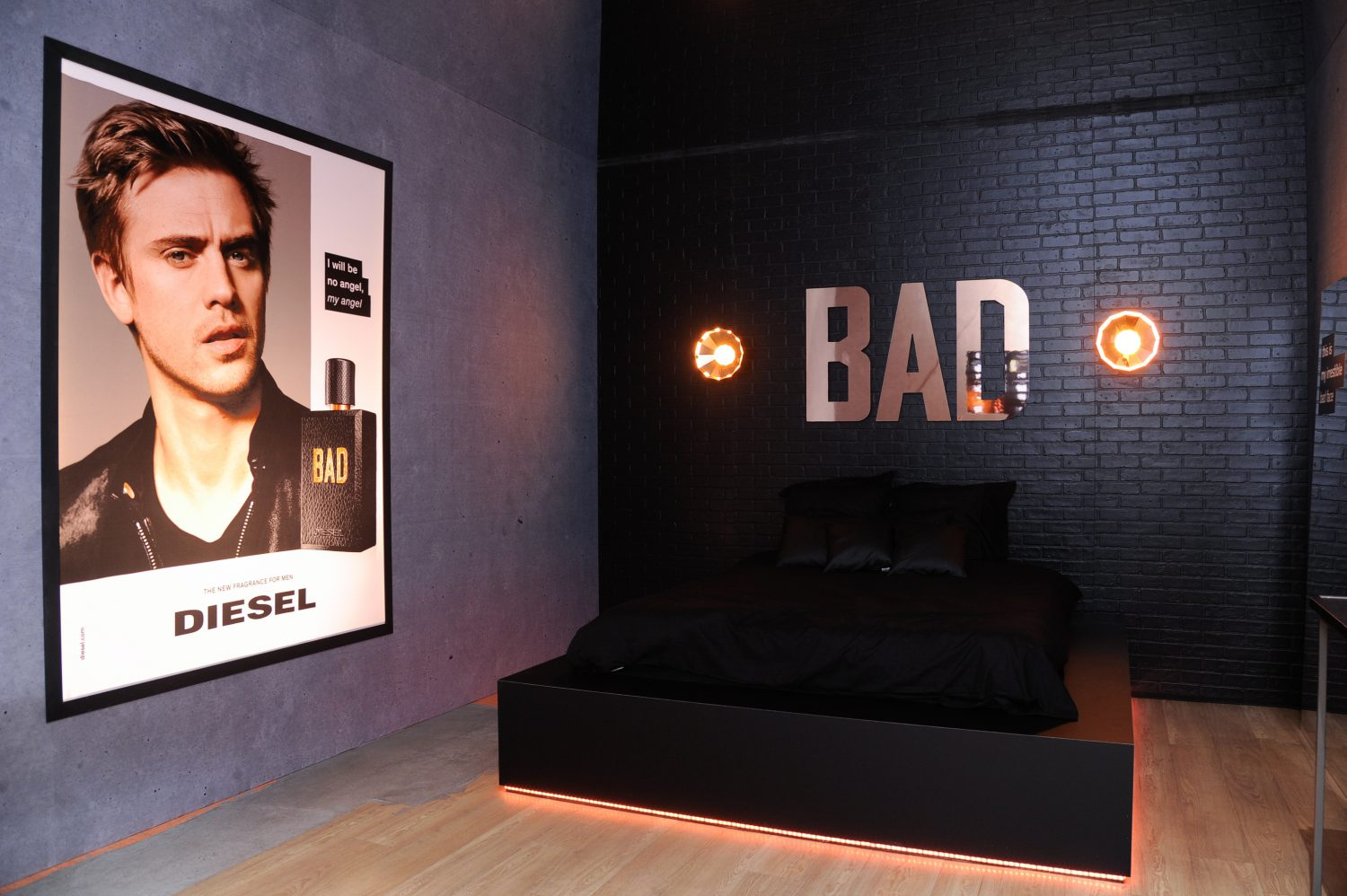 beauty diesel bad perfume launch party dierickx glenn. Black Bedroom Furniture Sets. Home Design Ideas
